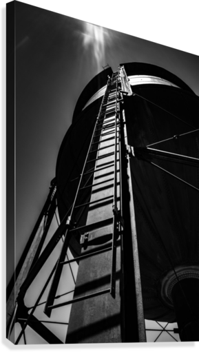 Water Tower BnW  Canvas Print